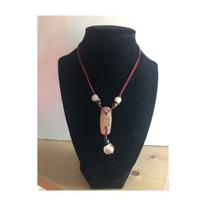 Beaded/natural stone necklace